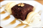 Delicious Brownie with Ice cream at Quo Vadis Café