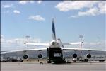 Antonov 124-100 loading at Calgary Int'l Airport