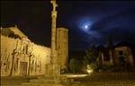 Moon over Poblet monastery