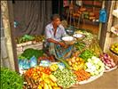 Sri Lanka - 078 - Colourful veggie shop in Kandy