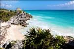 Mayan Ruins Above Blue Waters
