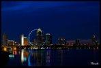 Singapore Flyer Blue Hour