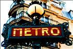 Paris Old Metro Signboard