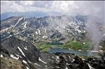 Bucura and Ana lakes from Peleaga Peak