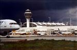 Flughafen bei Schlechtwetter