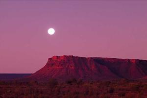 the flinders ranges at sunset
