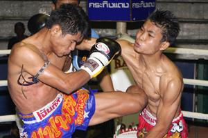 thai kickboxing close