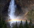 Rainbow at the base of Takakkaw Falls, Yoho National Park