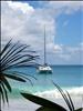 Catamaran à Anse Lazio (Praslin)