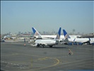 Airplanes With New York On Background
