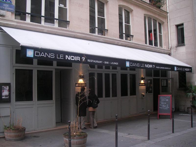 Unique restaurants around the word: dans le noir?