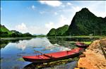 Village Dock, Tay River in Vietnam