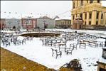 Winter in Piața Unirii, Timișoara