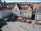 view of Town Hall Square from the Town Hall's tower