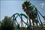 Rollercoasters at Six Flags Magic Mountain Park
