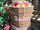 Dasher's food bucket at Santa's Reindeer Round-Up