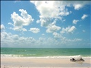 view from the beach on Sanibel island