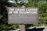 Here's your sign - The Grand Canyon of the Yellowstone