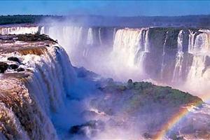 view over iguassu falls