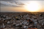Sunset above El Kef - From the casbah's fortifications