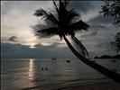 Sunset on Sairee beach, Koh Tao, Thailand