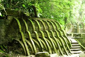 surrealist sculptures in Xilitla