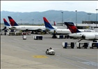 DL M90/738/757/738 (from right to left) - Salt Lake City Int´l. (SLC), UT, USA.