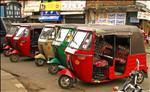 Sri Lanka - 077 - Tuk-tuks waiting for fares in Kandy