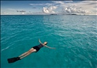 Mary Relaxing in the Tobago Cays