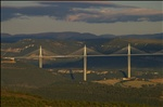 The Millau Viaduct on a Fall Day