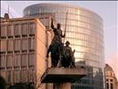 BXL - Place d'Espagne - Don Quichotte & Sancho Panza