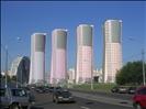 Moscow, new buildings near Khodynka Arena