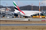 Emirates A380 at Chhatrapati Shivaji International Airport