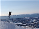 """Freestyle Skiing on """"Lille Malene"""""""