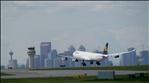 Flug LH494 Landung in Calgary.  (Airbus 340-600)