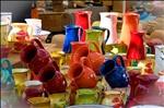 Pots on the market of Saint-Tropez