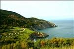 view of meat cove, cape breton island