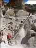 Up and up, the ladders at Bandelier