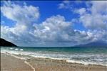 Sibu Island beach and sky