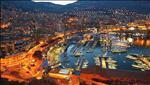 monacos stylish port at night