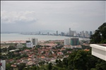 Look from the top of the Diamond Villas down on Penang
