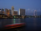 Marina Bay and the Singapore Flyer (The world's tallest observation wheel in 2008)