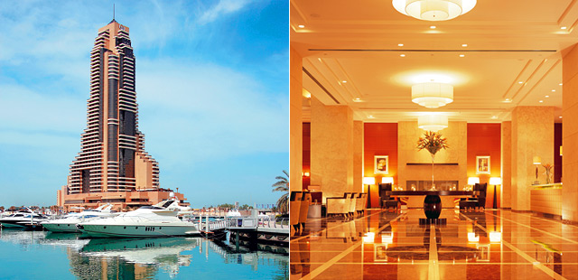Grosvenor house west marina beach by le meridien dubai for Tablet hotels dubai
