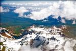 Flying over Pamir Mountains