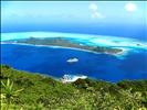 Bora Bora - Motu Toopua & Vaitape from above