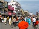 Busy Amritsar street outside Golden Temple