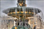 Water fountain at the Place de la Concorde
