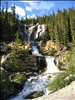 Cascading Waterfall along Icefields Parkway