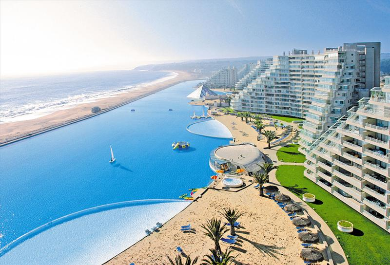 World largest swimming pool san alfonso del mar - San alfonso del mar resort swimming pool ...