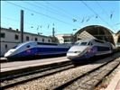 France, les  TGV  aux départ en Gare de Nice